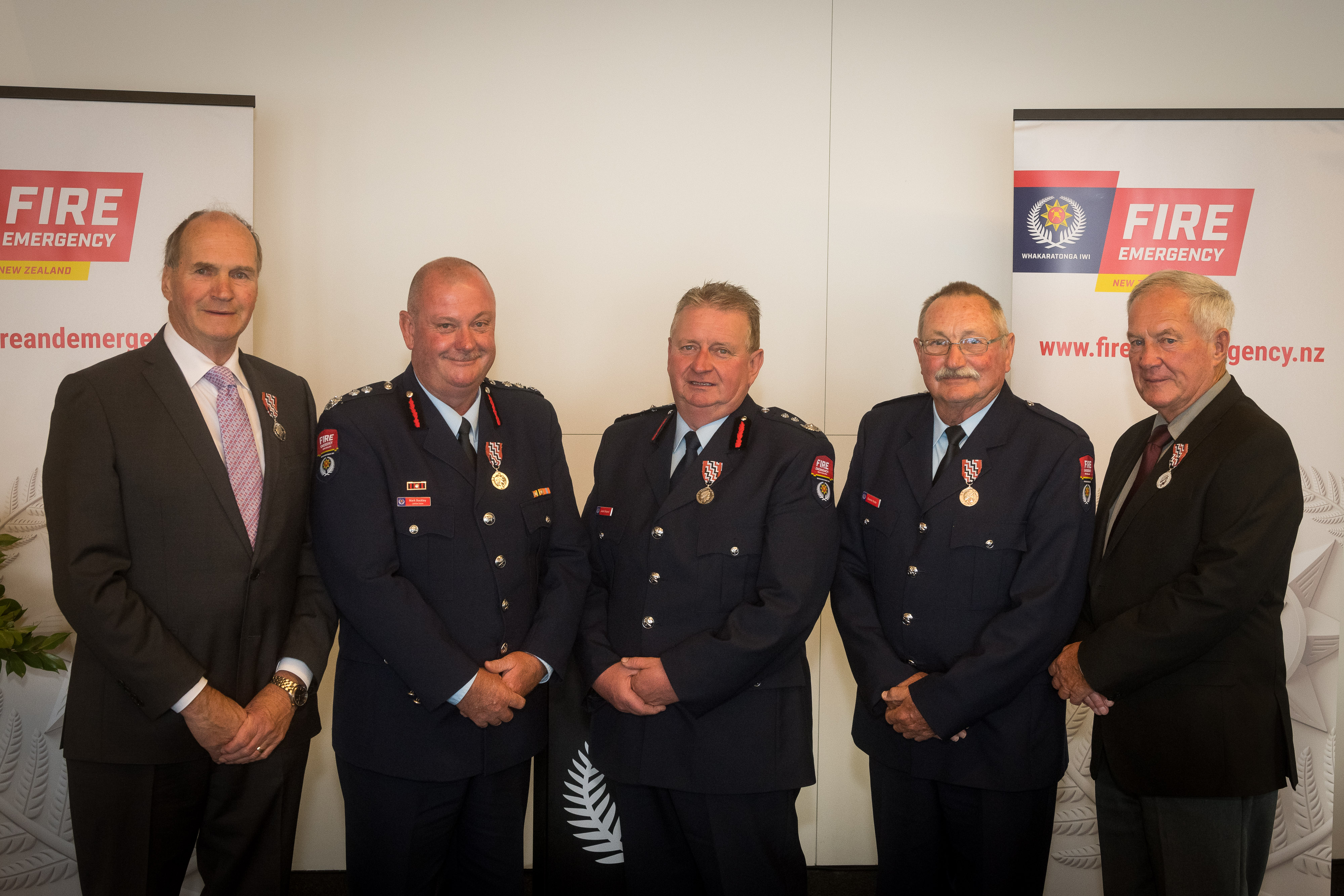 Fire and Emergency honours' recipients congratulated icon